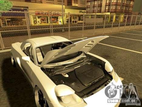 Toyota MR-S para GTA San Andreas traseira esquerda vista