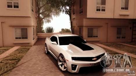Chevrolet Camaro ZL1 2011 v1.0 para GTA San Andreas vista traseira