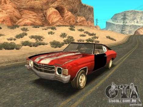 Chevrolet Chevelle Rustelle para GTA San Andreas vista superior