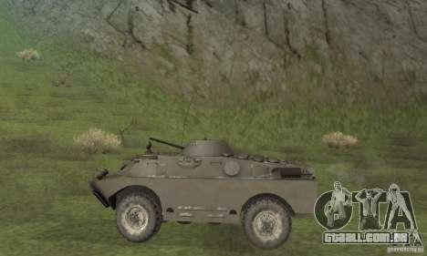 Versão de inverno BRDM-2 para GTA San Andreas traseira esquerda vista