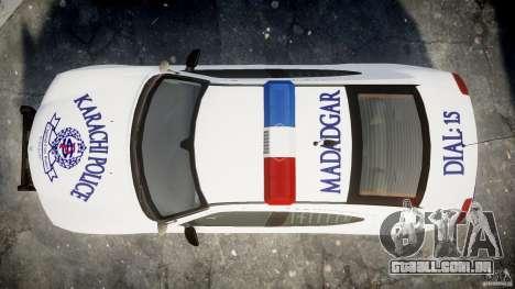 Dodge Charger Karachi City Police Dept Car [ELS] para GTA 4 vista direita