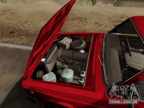 2105 Lada RIVA (exportação) 2.0 para GTA San Andreas vista inferior