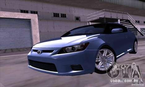 Scion Tc 2012 para GTA San Andreas traseira esquerda vista