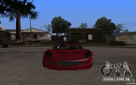Lotus Elise from NFSMW para GTA San Andreas esquerda vista