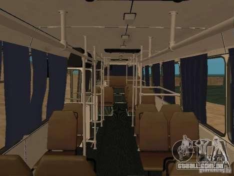 LAZ 52527 para GTA San Andreas vista interior