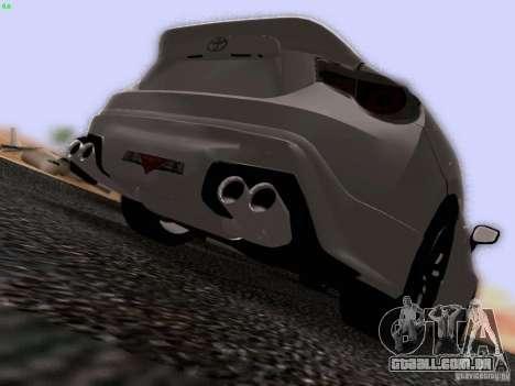 Toyota 86 TRDPerformanceLine 2012 para vista lateral GTA San Andreas