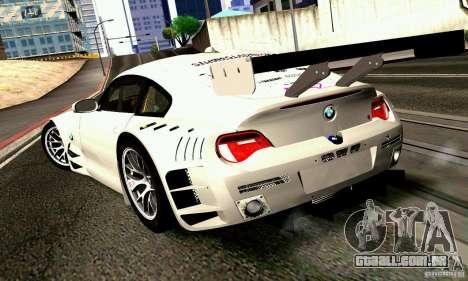 BMW Z4 E85 M GT 2008 V1.0 para GTA San Andreas esquerda vista