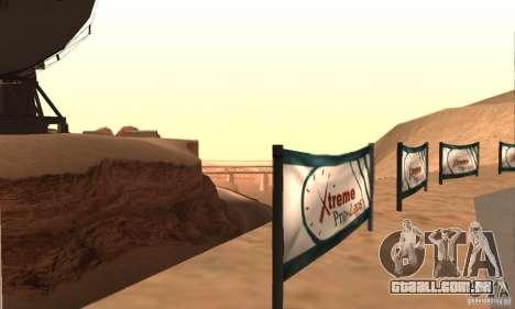 Faixa à deriva, o Big Ear v1 para GTA San Andreas por diante tela