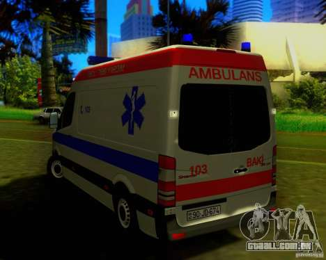 Mercedes-Benz Sprinter Baku Ambulans para GTA San Andreas vista direita