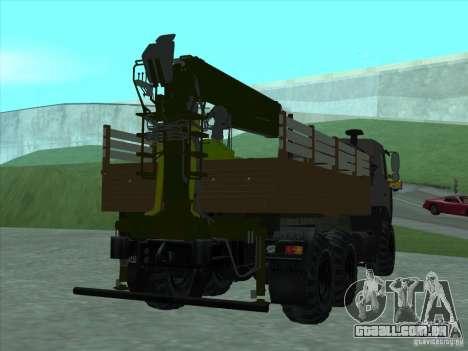 Manipulador MAZ 6317 para GTA San Andreas vista direita