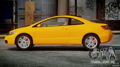 Honda Civic Si Coupe 2006 v1.0 para GTA 4 vista lateral