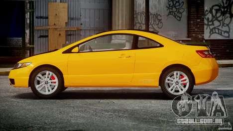 Honda Civic Si Coupe 2006 v1.0 para GTA 4 vista lateral