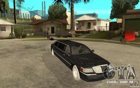 Lincoln Towncar limo 2003 para GTA San Andreas vista traseira