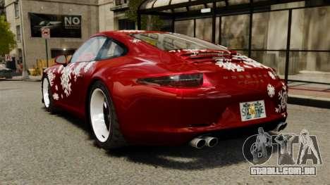 Porsche 911 (991) Carrera S para GTA 4 traseira esquerda vista