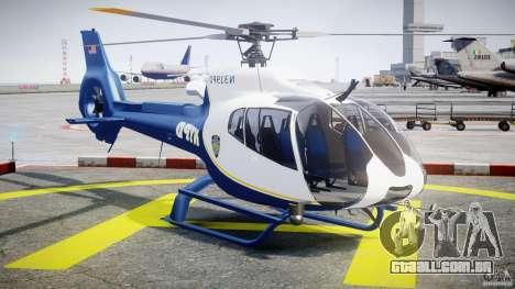 Eurocopter EC 130 NYPD para GTA 4 vista de volta