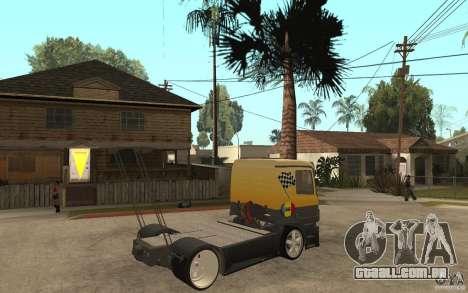 Mercedes Benz Actros Dragster para GTA San Andreas vista direita