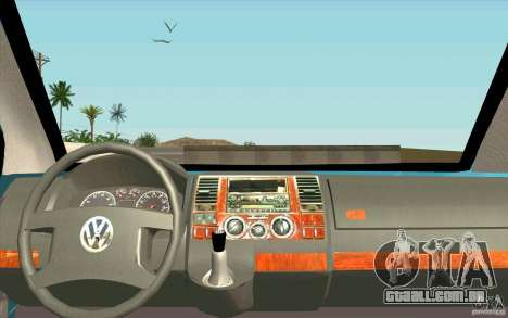 Volkswagen Caravelle para GTA San Andreas vista direita