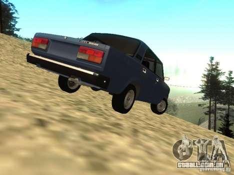 VAZ-2107 v 1.1 para GTA San Andreas traseira esquerda vista
