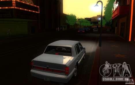 Lincoln Towncar 1991 para GTA San Andreas vista direita
