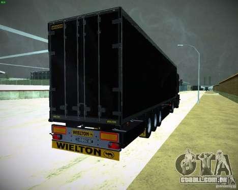 Wielton para GTA San Andreas traseira esquerda vista
