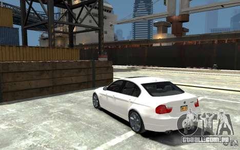 BMW 330i E90 para GTA 4 traseira esquerda vista