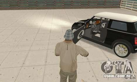 Mini Cooper Hardtop para GTA San Andreas vista traseira