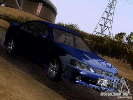 Ford Falcon para GTA San Andreas vista traseira