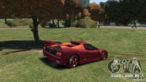 Ferrari F50 para GTA 4 traseira esquerda vista