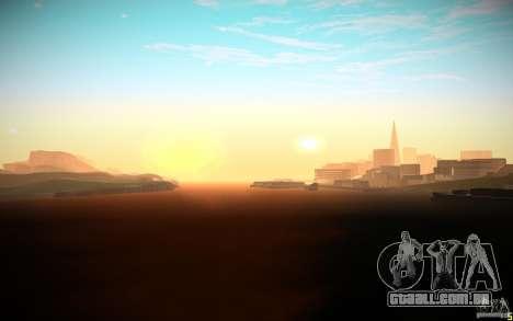 ENB Black Edition para GTA San Andreas por diante tela