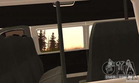 Gazela 32213 Novosibirsk Minibus para GTA San Andreas vista traseira