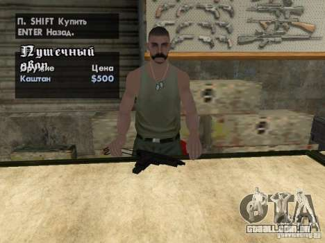 Armas de Pak domésticos para GTA San Andreas sexta tela