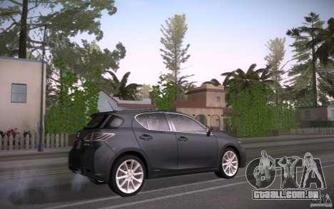 Lexus CT200H 2011 para GTA San Andreas vista direita