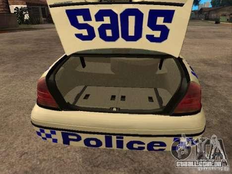 Ford Crown Victoria NSW Police para GTA San Andreas vista traseira