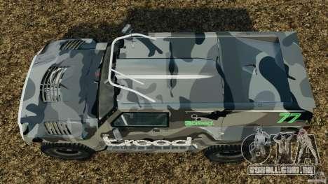 Hummer H3 raid t1 para GTA 4 vista direita