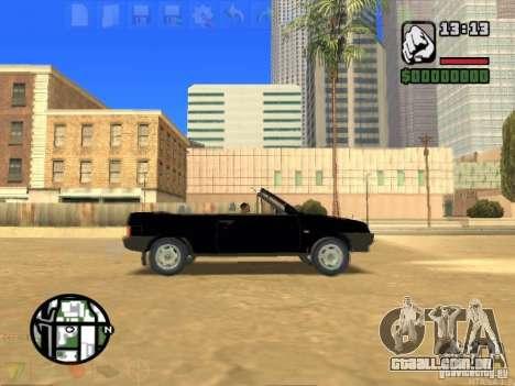 VAZ 2108 conversível para GTA San Andreas esquerda vista