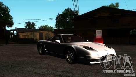 Acura NSX Stock para GTA San Andreas vista traseira