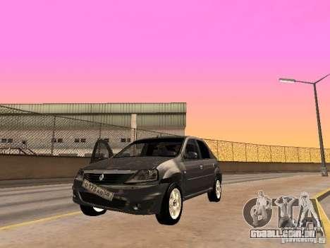 Renault Logan para GTA San Andreas vista traseira