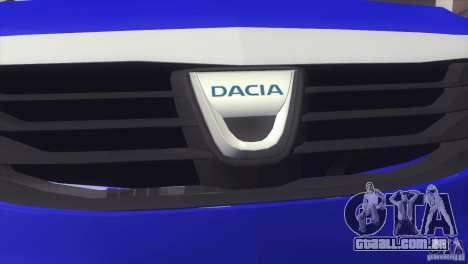 Dacia Logan MCV Facelift para GTA San Andreas traseira esquerda vista