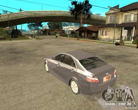 Toyota Camry XV40 2007 para GTA San Andreas esquerda vista