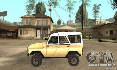 UAZ 31514 para GTA San Andreas esquerda vista