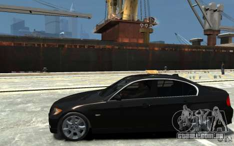 BMW 330i E90 para GTA 4 esquerda vista