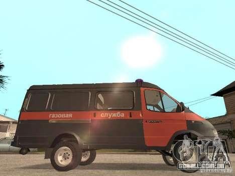 Serviço de gás gazela 2705 para GTA San Andreas traseira esquerda vista