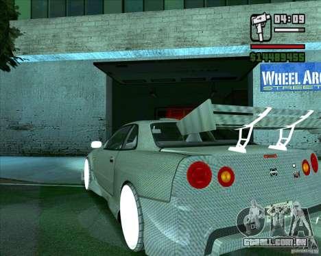 Nissan Skyline para GTA San Andreas vista direita