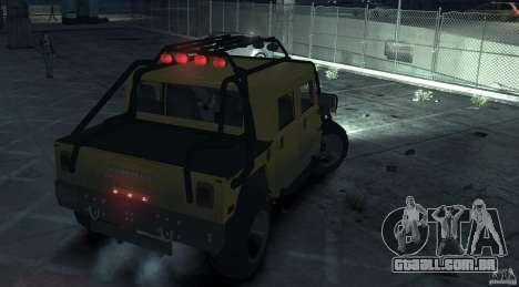 Hummer H1 4x4 Extras para GTA 4 traseira esquerda vista