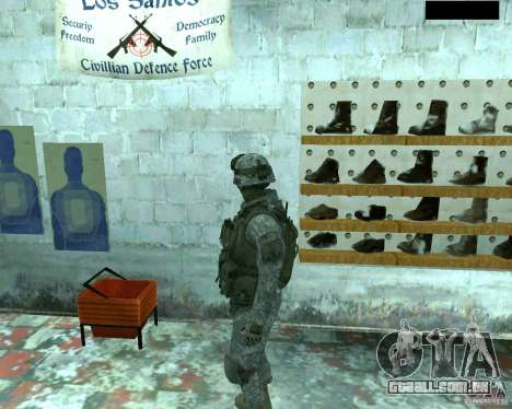 Soldado de infantaria pele CoD MW 2 para GTA San Andreas por diante tela
