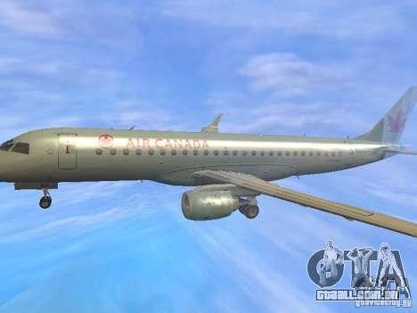 Embraer ERJ 190 Air Canada para GTA San Andreas vista superior