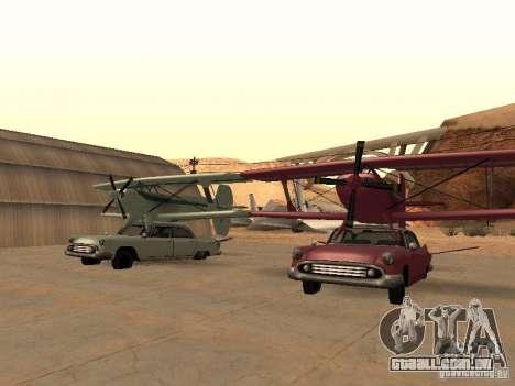 Carro-avião para GTA San Andreas vista direita