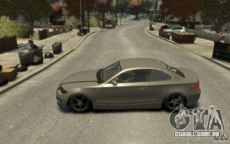 BMW 135i para GTA 4 esquerda vista
