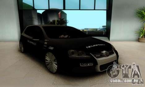 Volkswagen Golf R32 para GTA San Andreas vista traseira