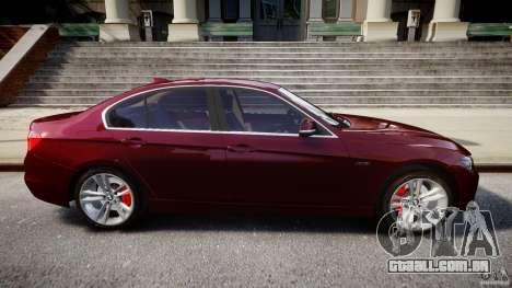 BMW 335i 2013 v1.0 para GTA 4 vista superior
